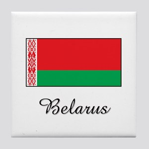Belarus Flag Tile Coaster